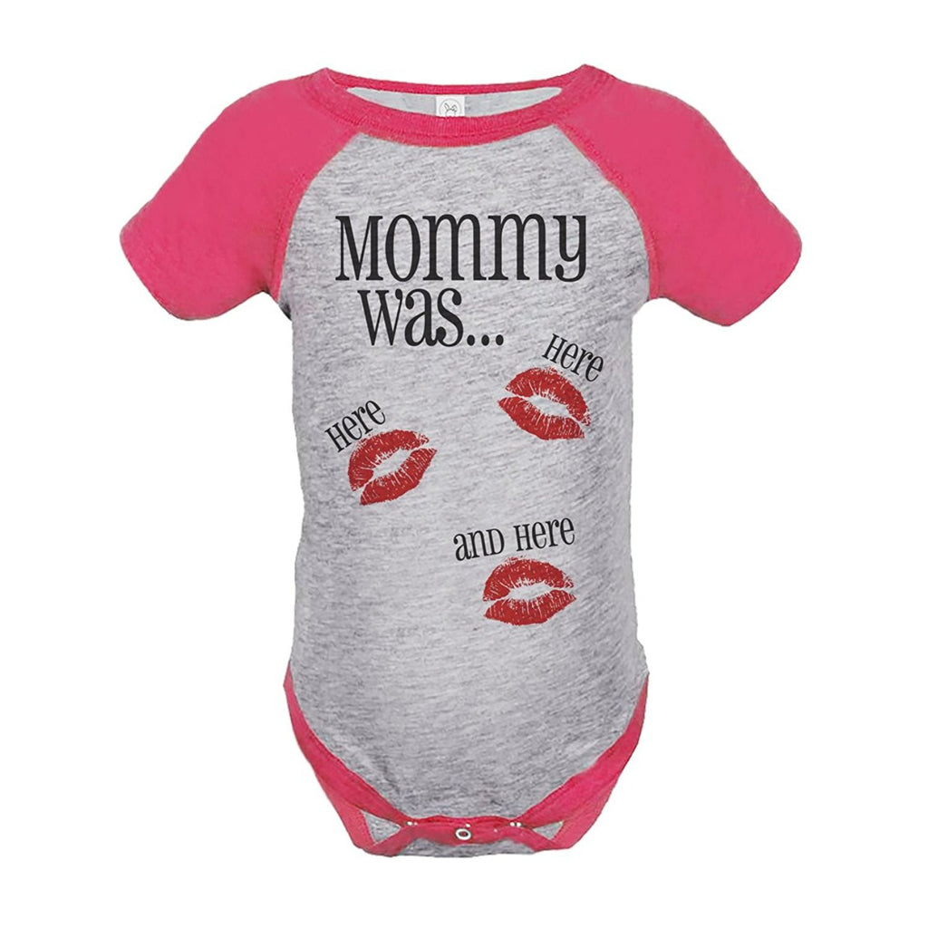 7 ate 9 Apparel Kids Mommy Was Here Valentine's Day Pink Onepiece