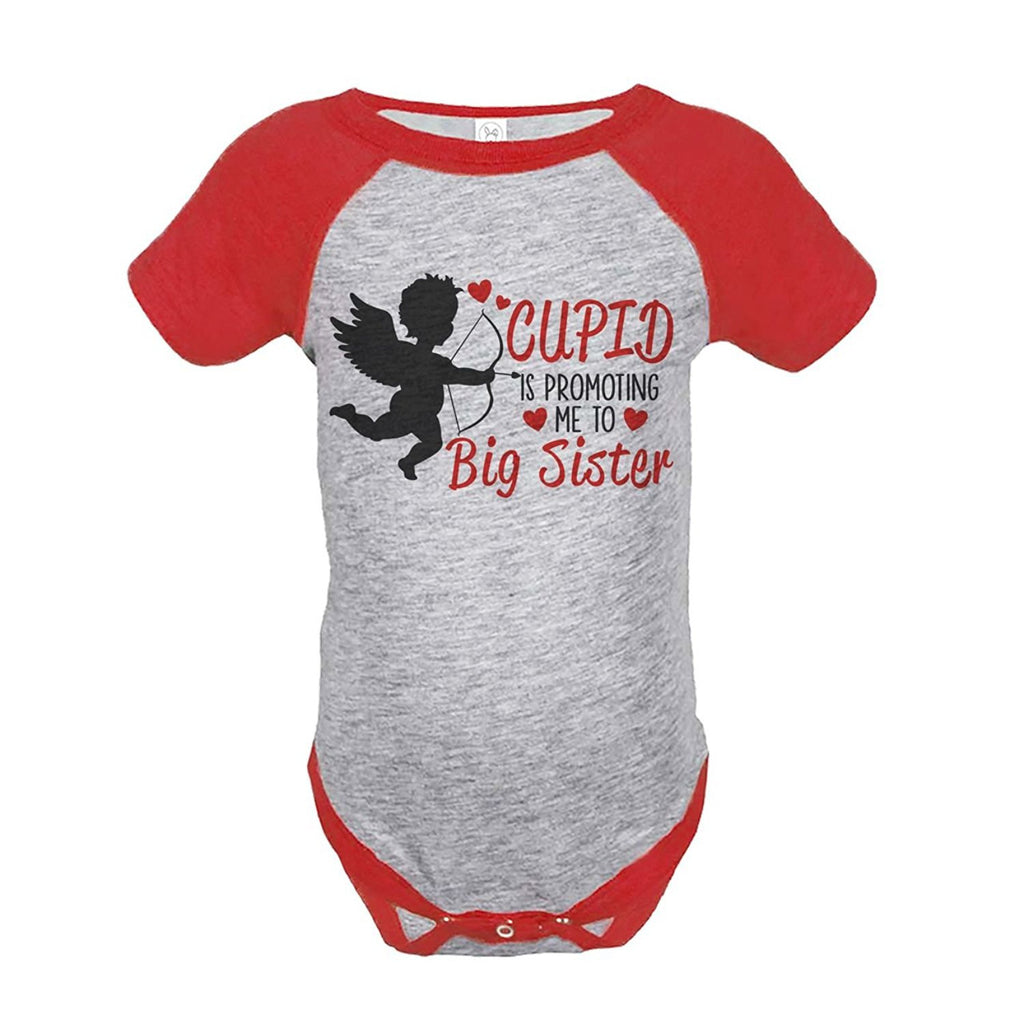 7 ate 9 Apparel Girl's Big Sister To Be Valentine's Onepiece