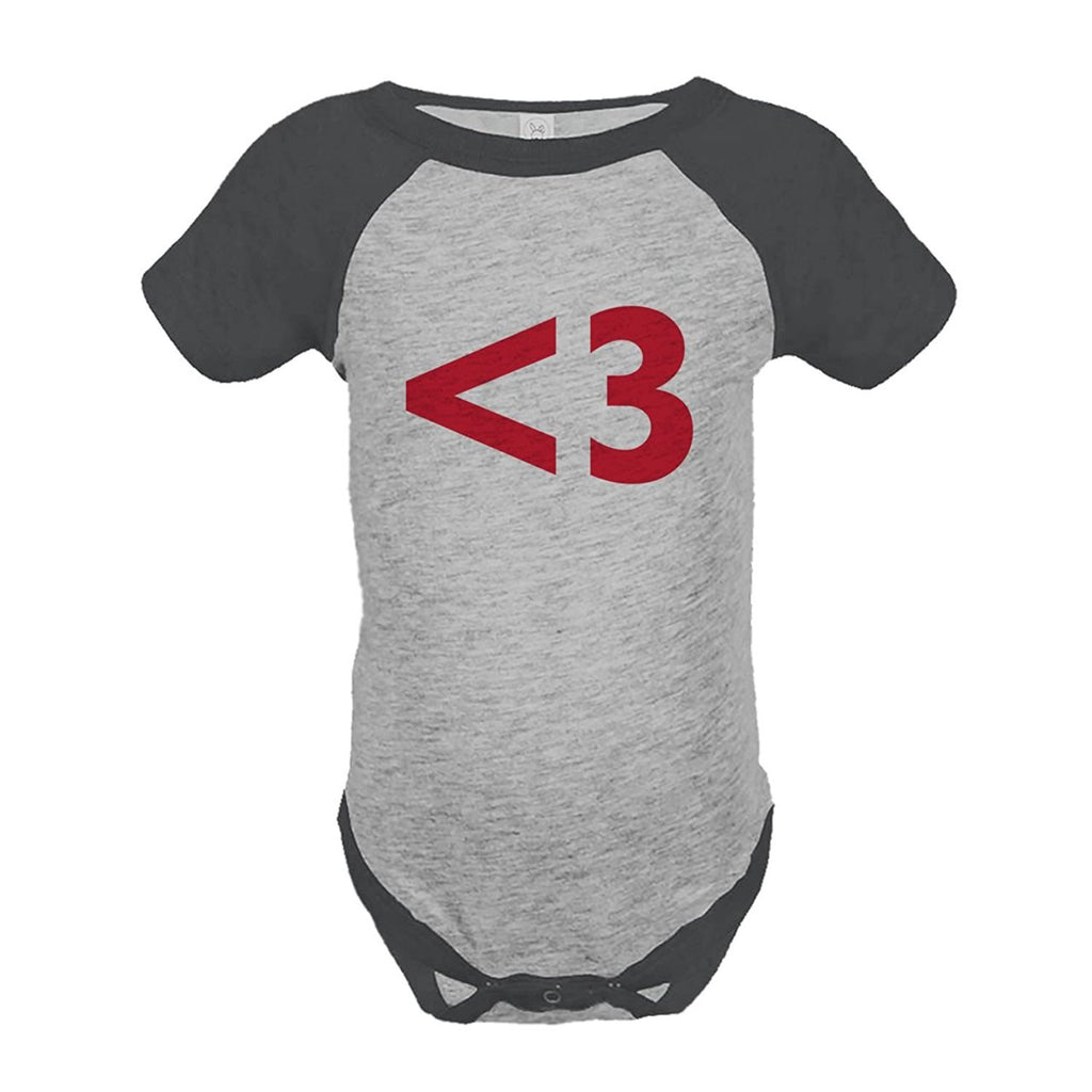 7 ate 9 Apparel Kids <3 Heart Happy Valentine's Day Grey Onepiece