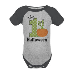 7 ate 9 Apparel Baby's My First Halloween Onepiece