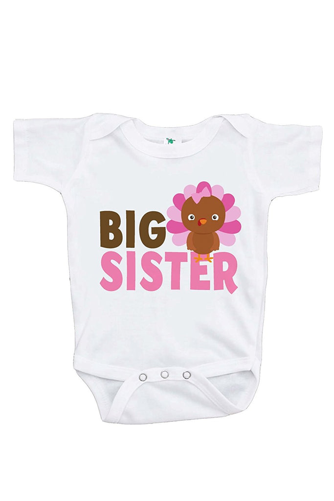 7 ate 9 Apparel Baby Girl's Big Sister Thanksgiving Onepiece