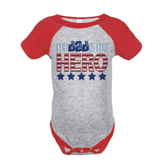 7 ate 9 Apparel Kid's 4th of July Raglan Onepiece