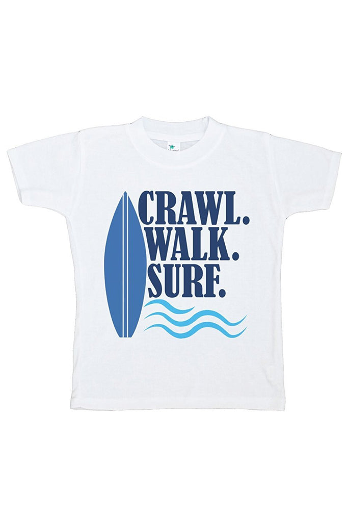 7 Ate 9 Apparel Baby Boy's Crawl Walk Surf Summer T-shirt
