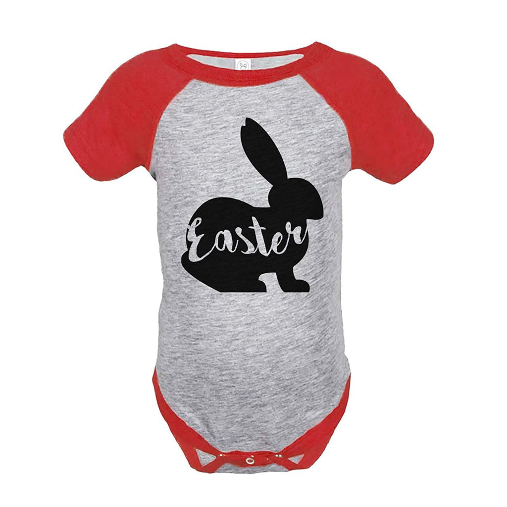 7 ate 9 Apparel Baby's Easter Bunny Happy Easter Red Onepiece