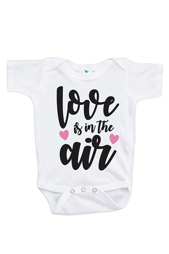 7 ate 9 Apparel Baby's Love Is In The Air Valentine's Day Onepiece