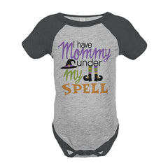 7 ate 9 Apparel Baby's Mommy's Under My Spell Halloween Onepiece