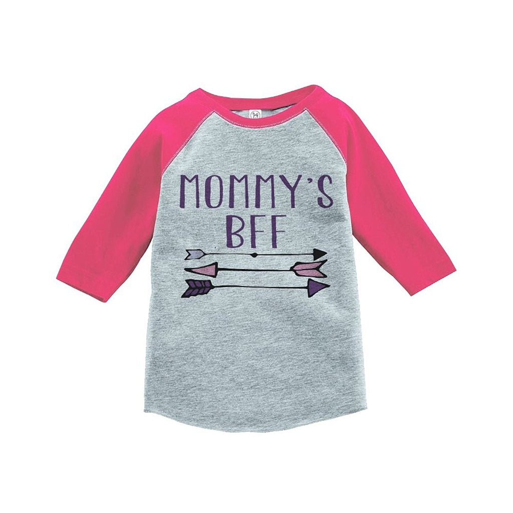 7 ate 9 Apparel Girls' Mommy's BFF Vintage Baseball Tee