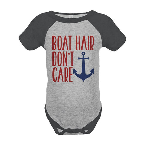 Custom Party Shop Boat Hair Don't Care Summer Raglan Onepiece