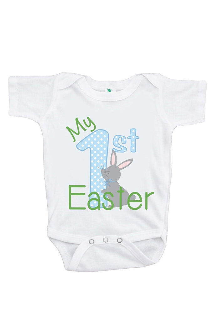 7 ate 9 Apparel Unisex Baby's Novelty My First Easter Onepiece