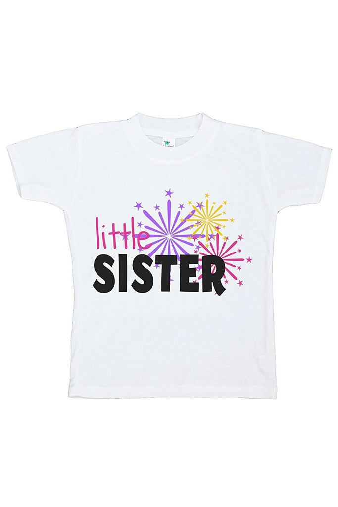 7 ate 9 Apparel Kids Little Sister Happy New Year T-shirt