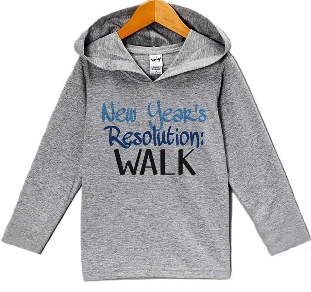 7 ate 9 Apparel Baby Boy's New Years Resolution New Years Eve Hoodie Pullover