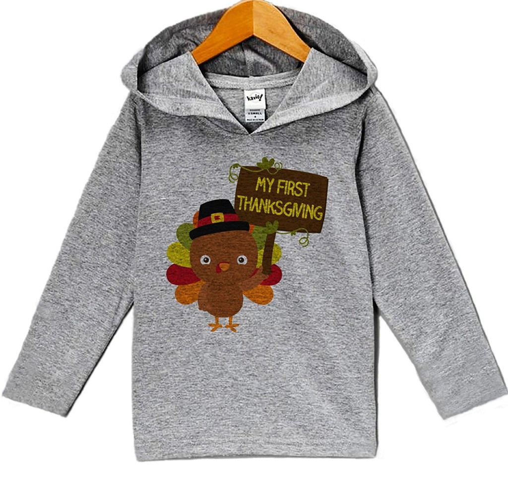 7 ate 9 Apparel Baby's Turkey My First Thanksgiving Hoodie