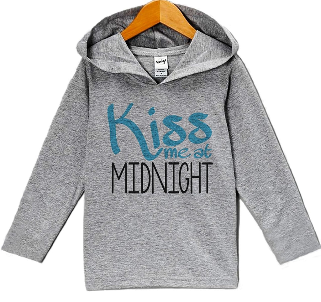 7 ate 9 Apparel Baby Boy's Kiss Me At Midnight New Years Eve Hoodie Pullover