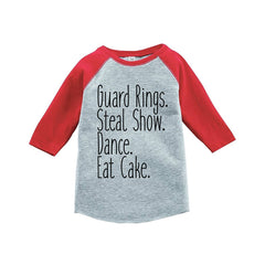 7 ate 9 Apparel Toddler Boy's Funny Ring Bearer Wedding Red Raglan