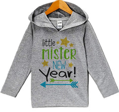 7 ate 9 Apparel Baby Boy's Little Mister New Years Eve Hoodie Pullover