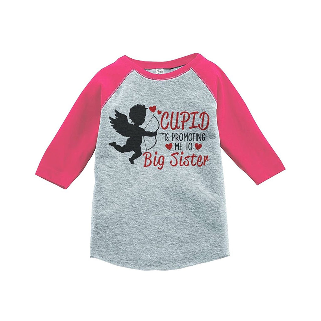 7 ate 9 Apparel Girl's Big Sister To Be Valentine's T-shirt