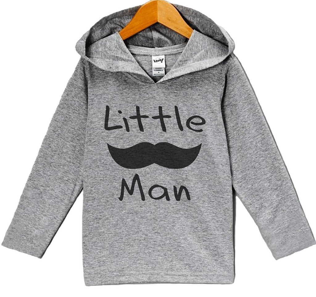 7 ate 9 Apparel Baby Boy's Mustache Little Man Hoodie Pullover