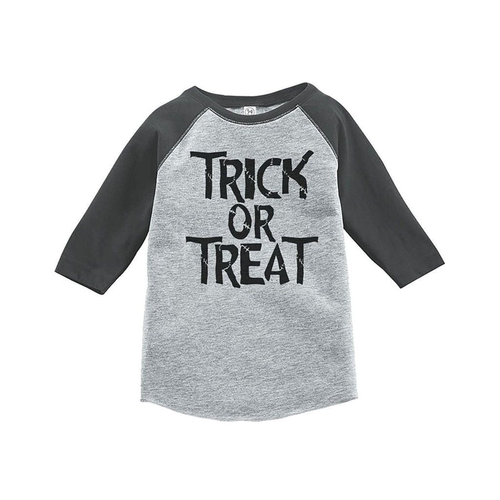 7 ate 9 Apparel Youth Trick or Treat Halloween Shirt