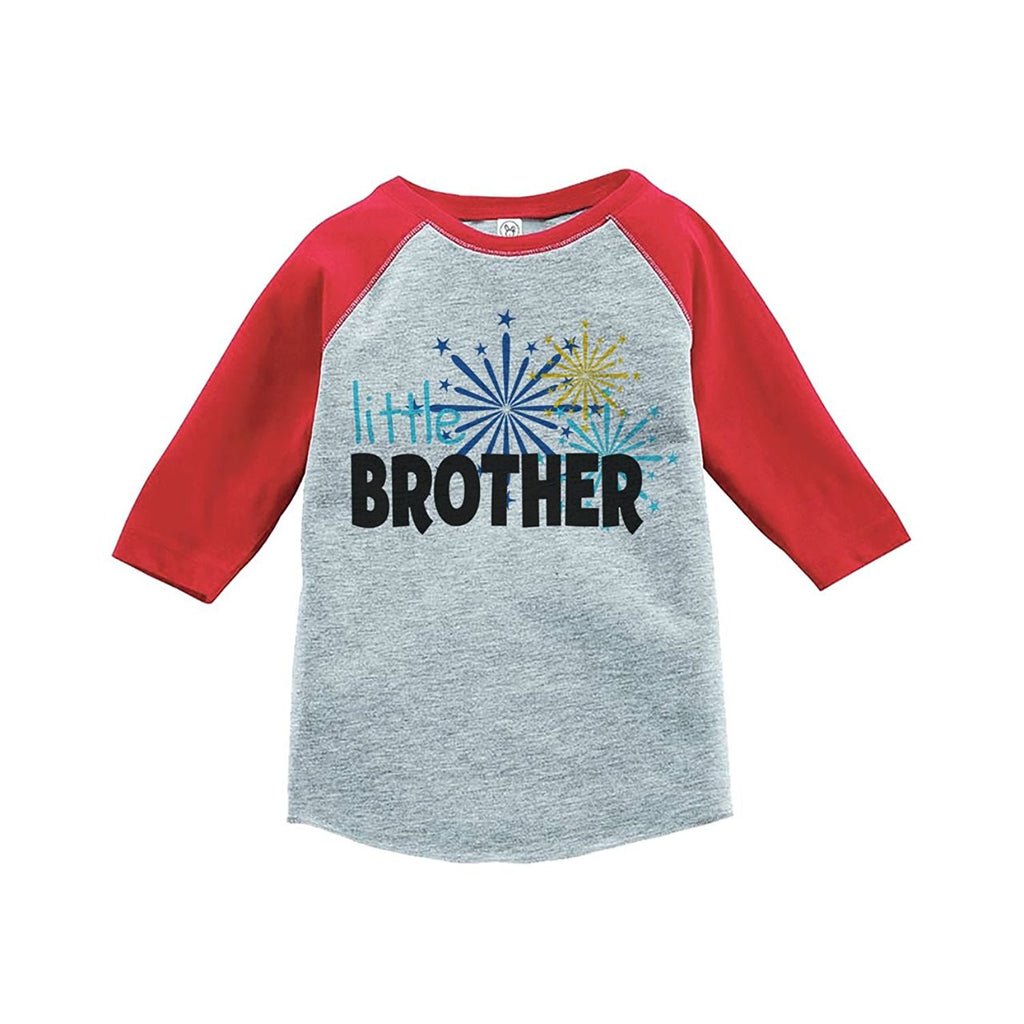 7 ate 9 Apparel Kids Little Brother Happy New Year Raglan Shirt