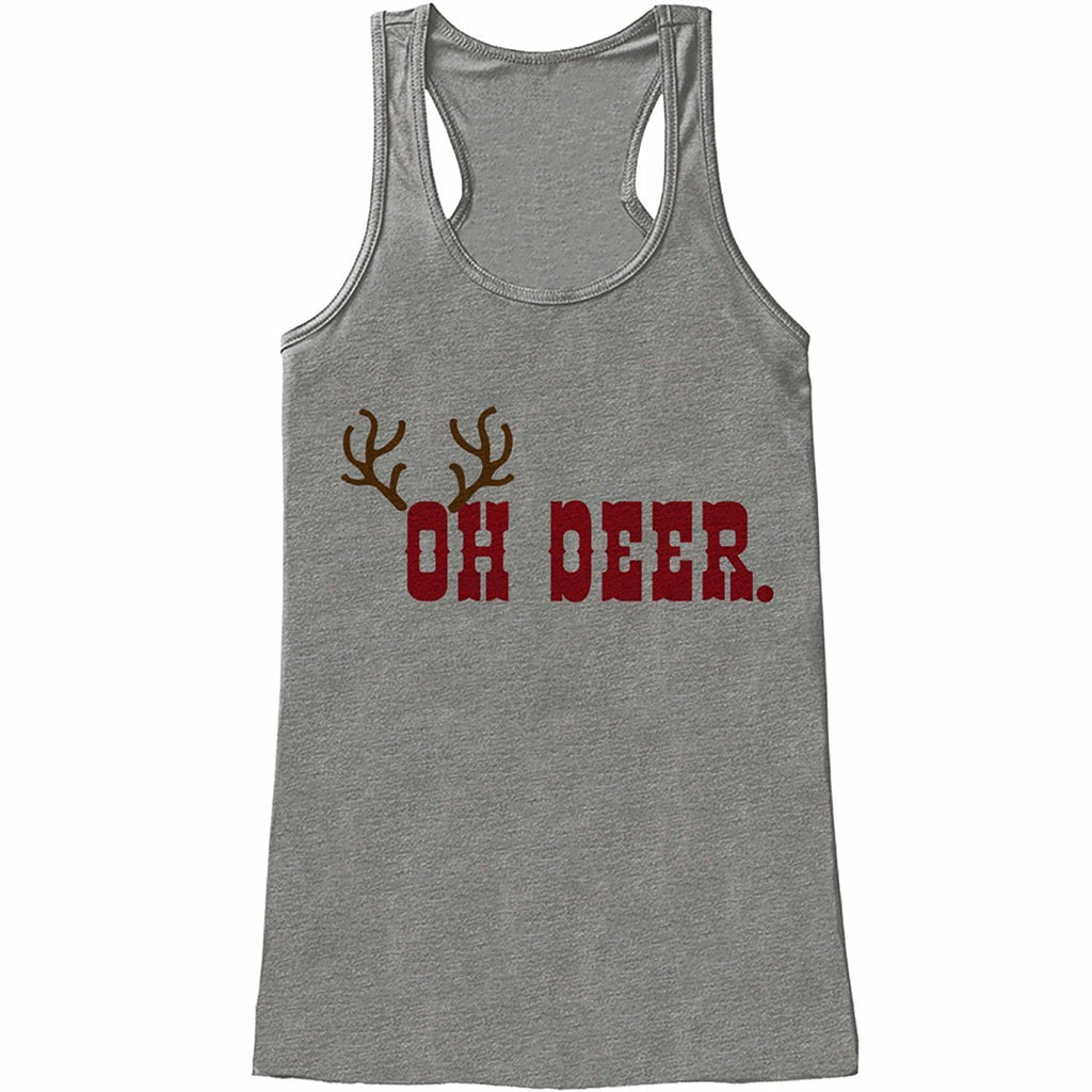 Oh Deer - Women's Grey Tank Top