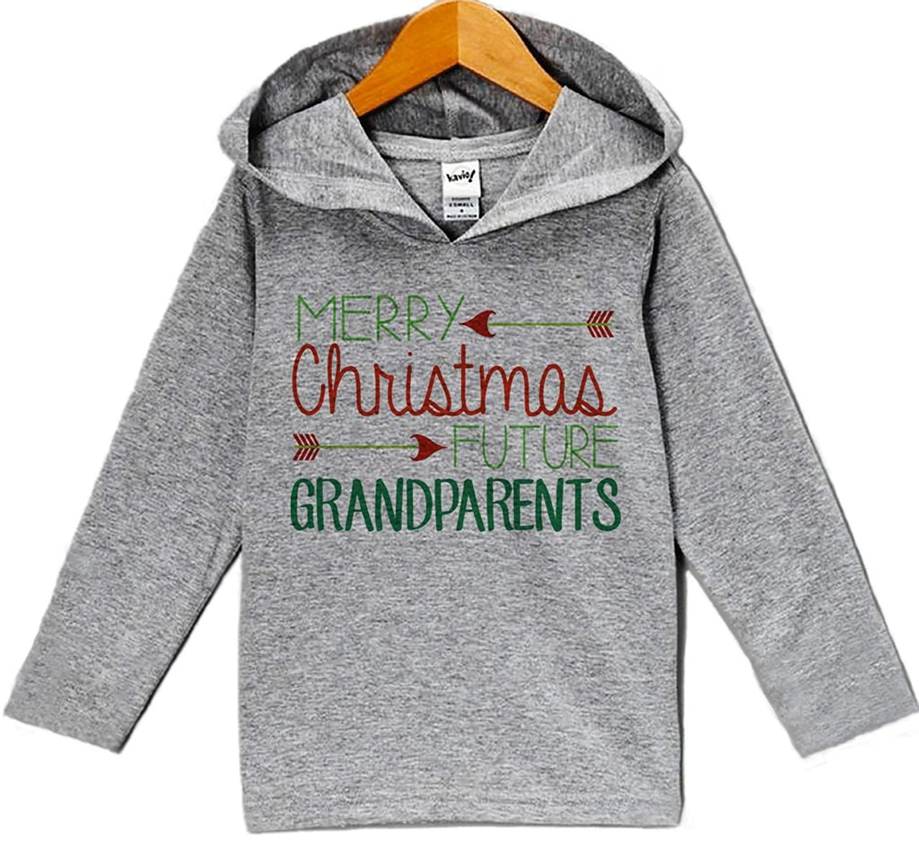 7 ate 9 Apparel Baby's Future Grandparents Christmas Hoodie