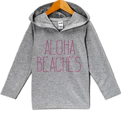 7 ate 9 Apparel Baby Girl's Aloha Beaches Summer Hoodie Pullover