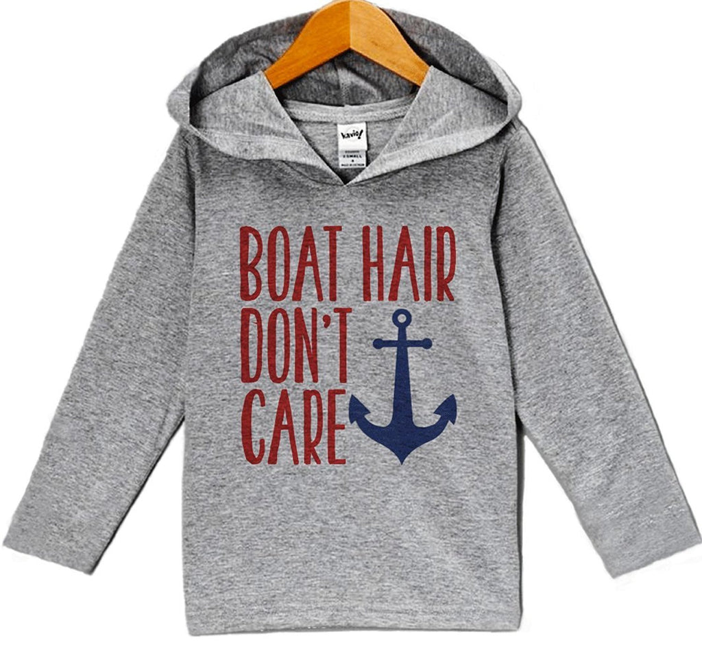 7 Ate 9 Apparel Baby Boy's Boat Hair Don't Care Summer Hoodie Pullover