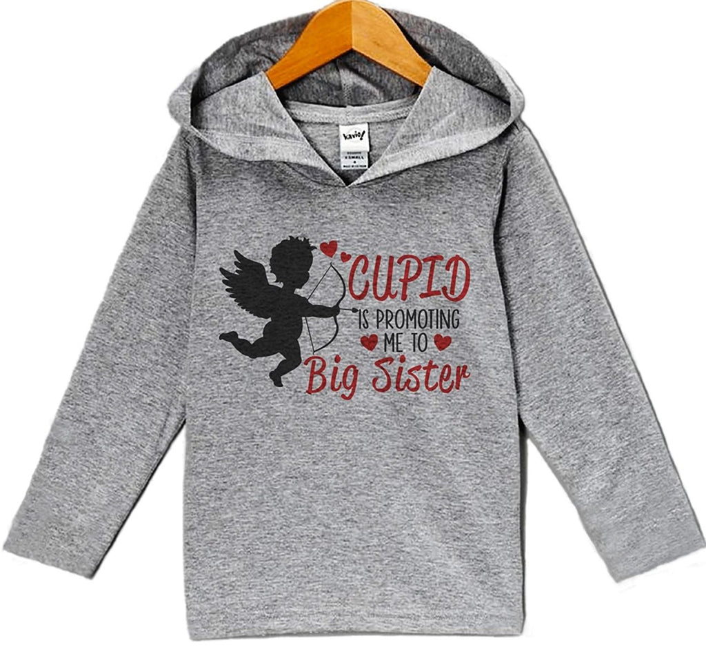7 ate 9 Apparel Baby's Big Sister Pregnancy Reveal Valentine's Day Hoodie