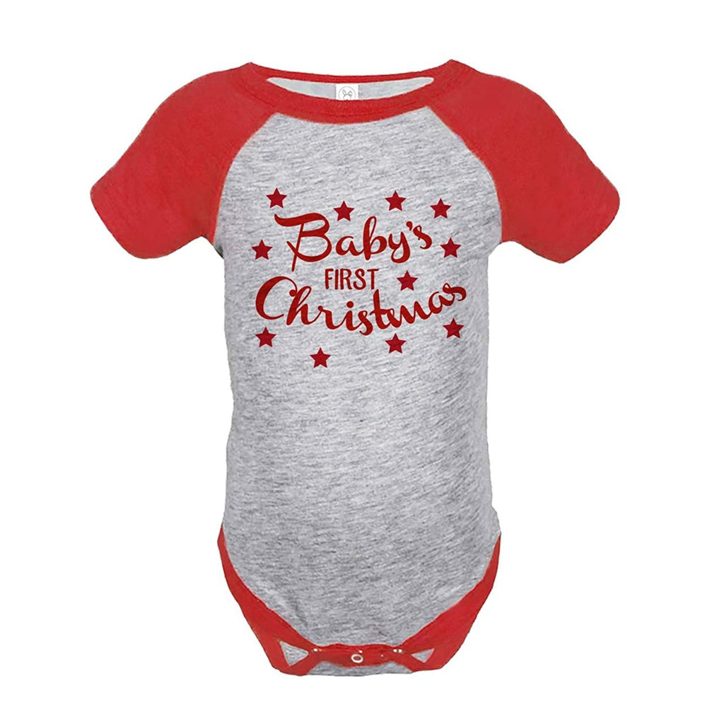 7 ate 9 Apparel Baby's First Christmas Onepiece Red