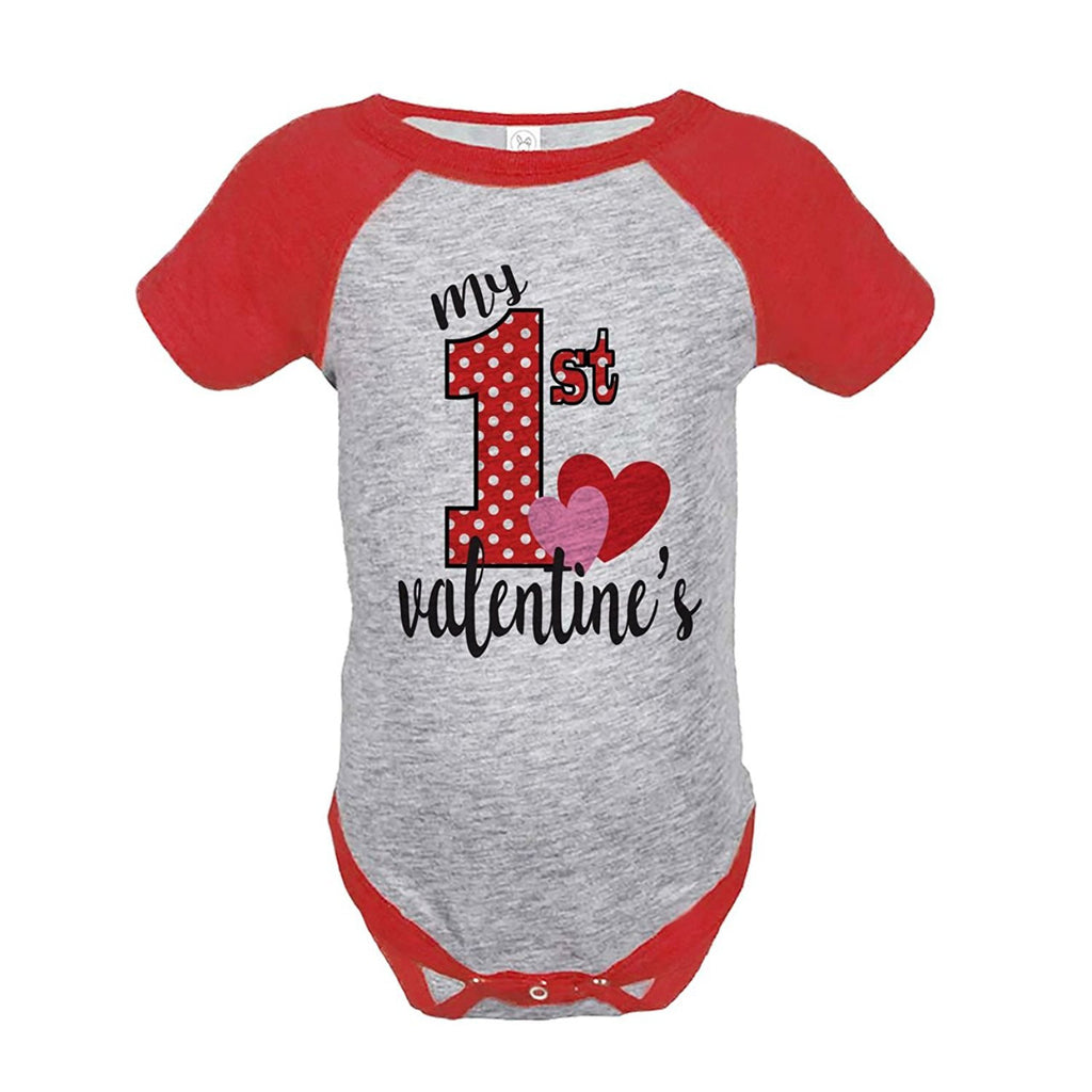 7 ate 9 Apparel Girl's My 1st Valentine's Onepiece