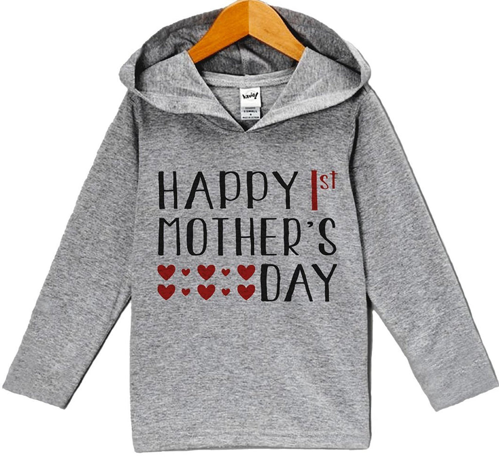 7 ate 9 Apparel Baby Boy's Happy 1st Mother's Day Hoodie Pullover