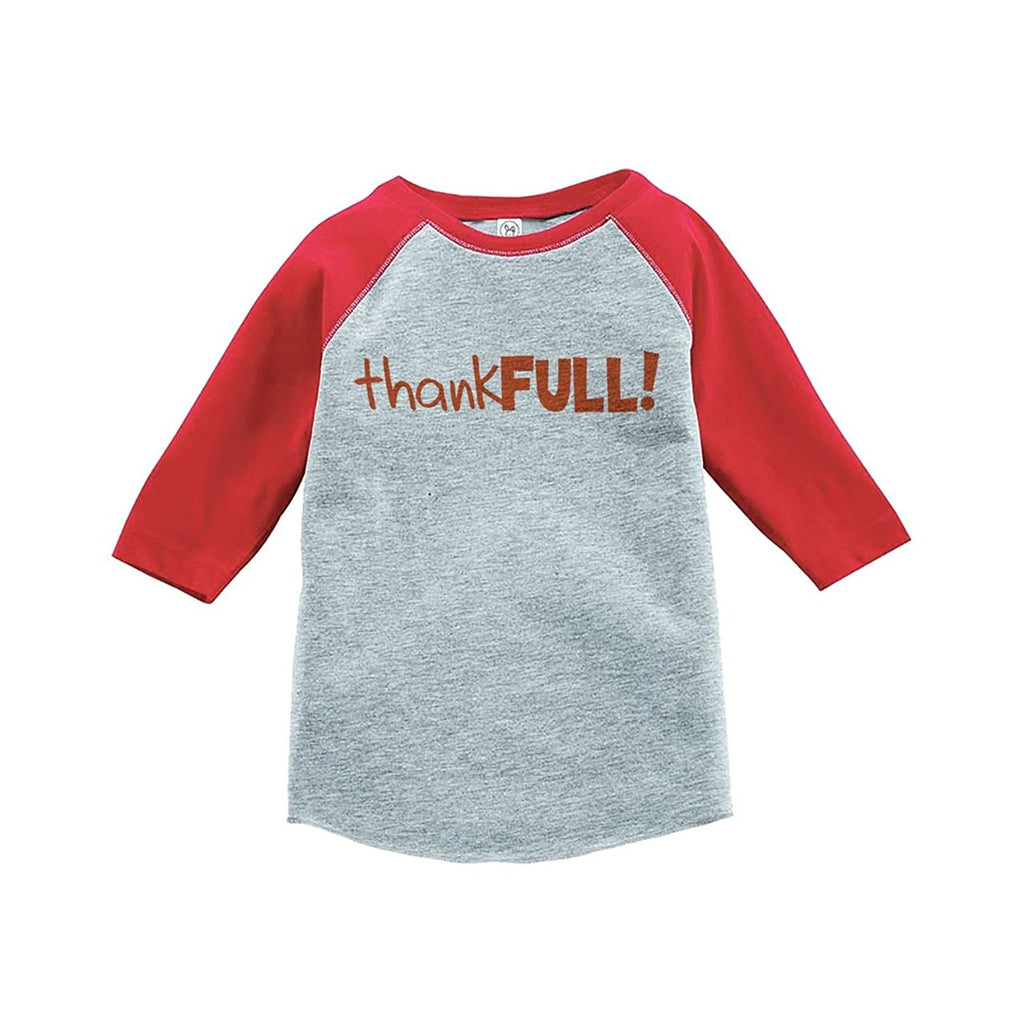 7 ate 9 Apparel Baby's ThankFULL Thanksgiving Red Raglan