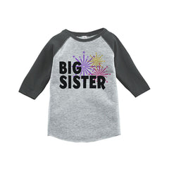 7 ate 9 Apparel Kids Big Sister Happy New Year Raglan Shirt