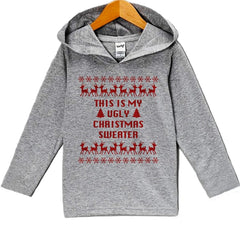 7 ate 9 Apparel Baby's This Is My Ugly Christmas Sweater Hoodie