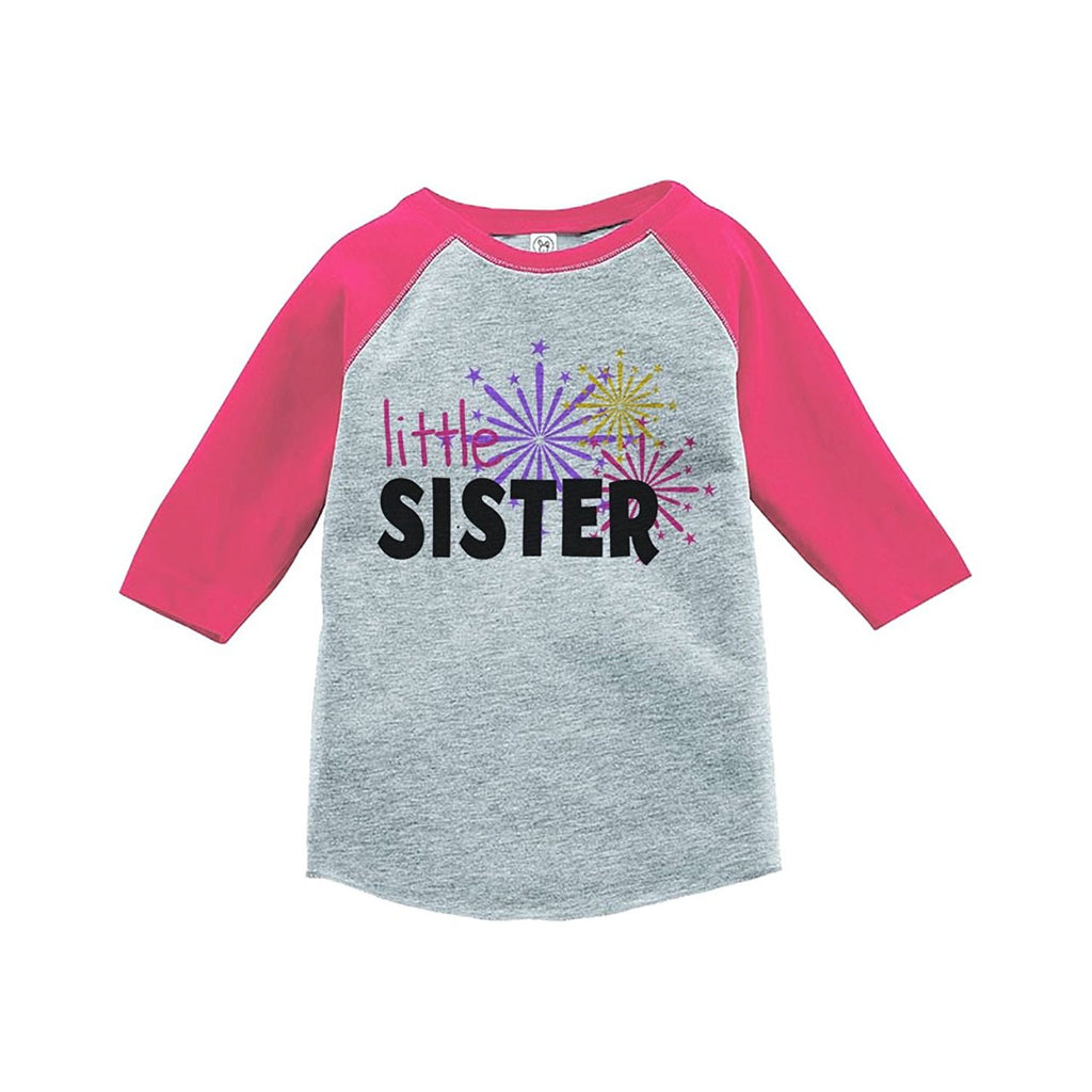 7 ate 9 Apparel Kids Little Sister Happy New Year Raglan Shirt