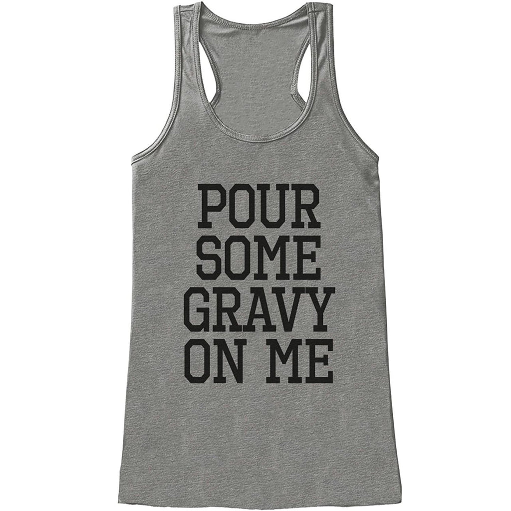7 ate 9 Apparel Womens Pour Some Gravy On Me Thanksgiving Tank Top