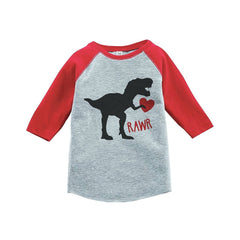 Rawr Dinosaur with Heart Shirt