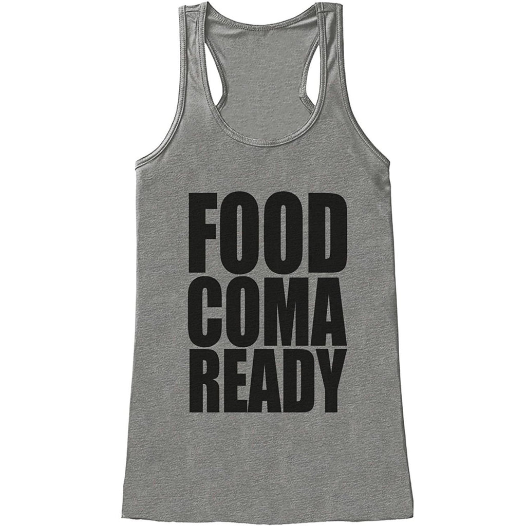 7 ate 9 Apparel Womens Food Coma Ready Thanksgiving Tank Top