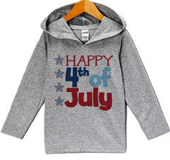 7 ate 9 Apparel Baby Boy's Happy 4th of July Hoodie Pullover