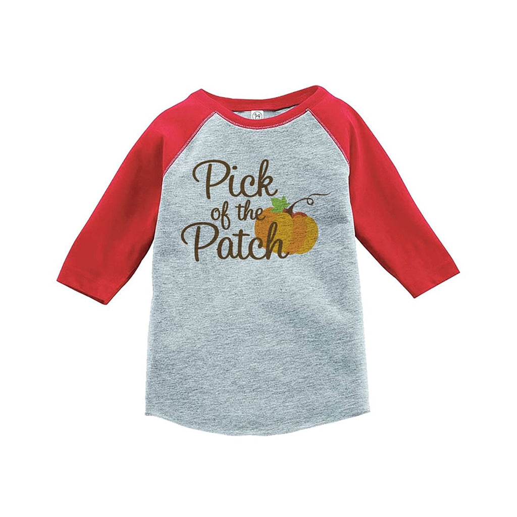 7 ate 9 Apparel Baby's Pick of the Patch Fall Thanksgiving Red Raglan