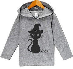 7 Ate 9 Apparel Baby Black Cat Halloween Hoodie
