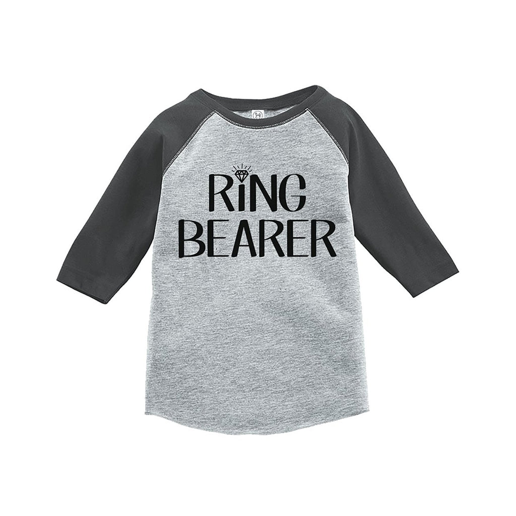 7 ate 9 Apparel Toddler Boy's Ring Bearer Wedding Grey Raglan