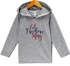 7 ate 9 Apparel Kid's Let Freedom Ring 4th of July Hoodie Pullover