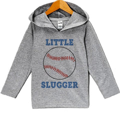 7 ate 9 Apparel Baby Boy's Novelty Baseball Hoodie Pullover