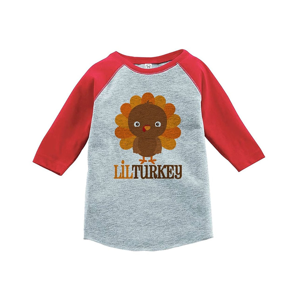 Lil Turkey - Baby Boy's Red Raglan