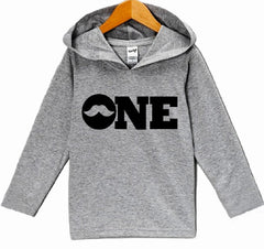 7 ate 9 Apparel Baby Boy's First Birthday Mustache Hoodie Pullover