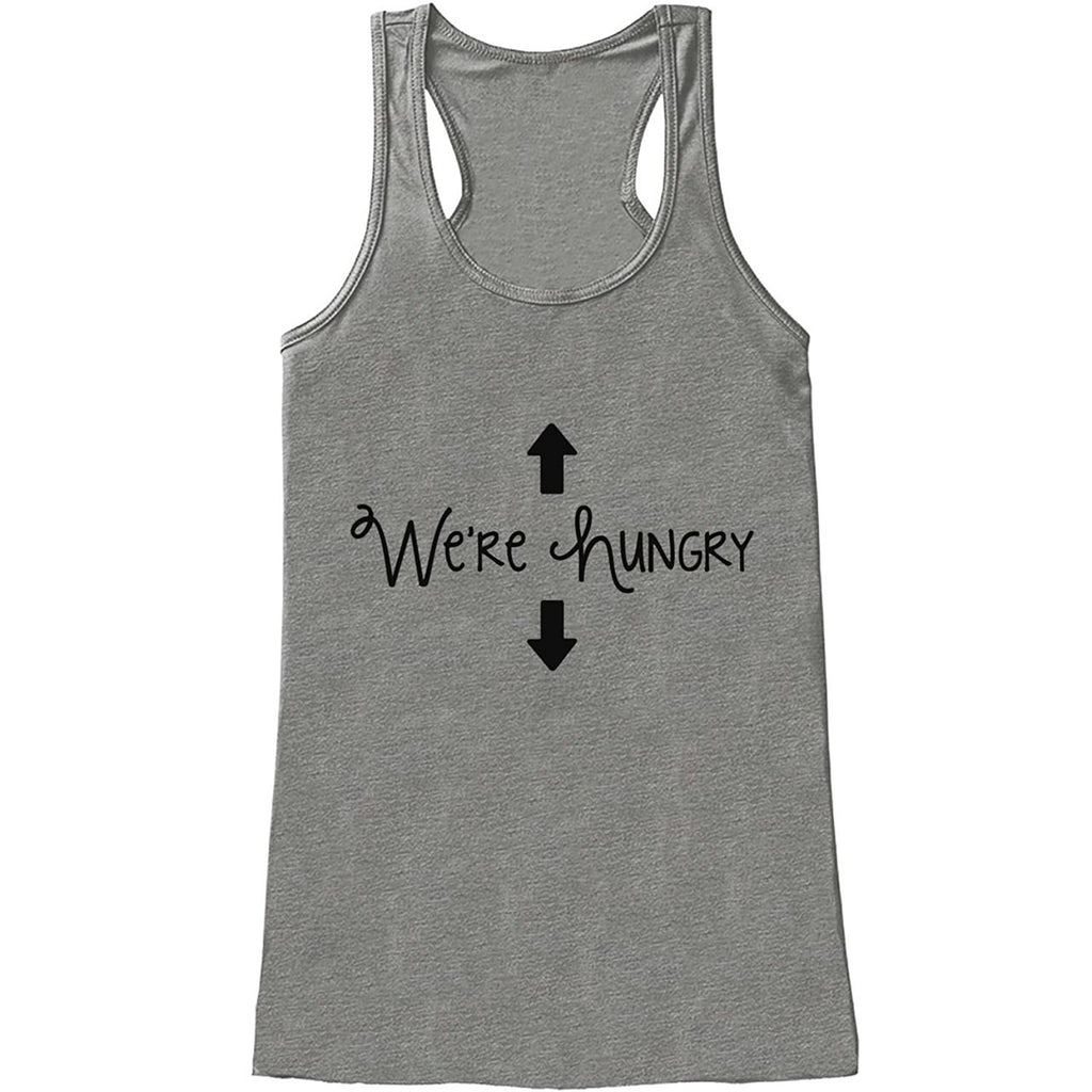 7 ate 9 Apparel Women's We're Hungry Pregnancy Announcement Tank Top