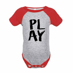 7 ate 9 Apparel Funny Kids Play Baseball Onepiece Red