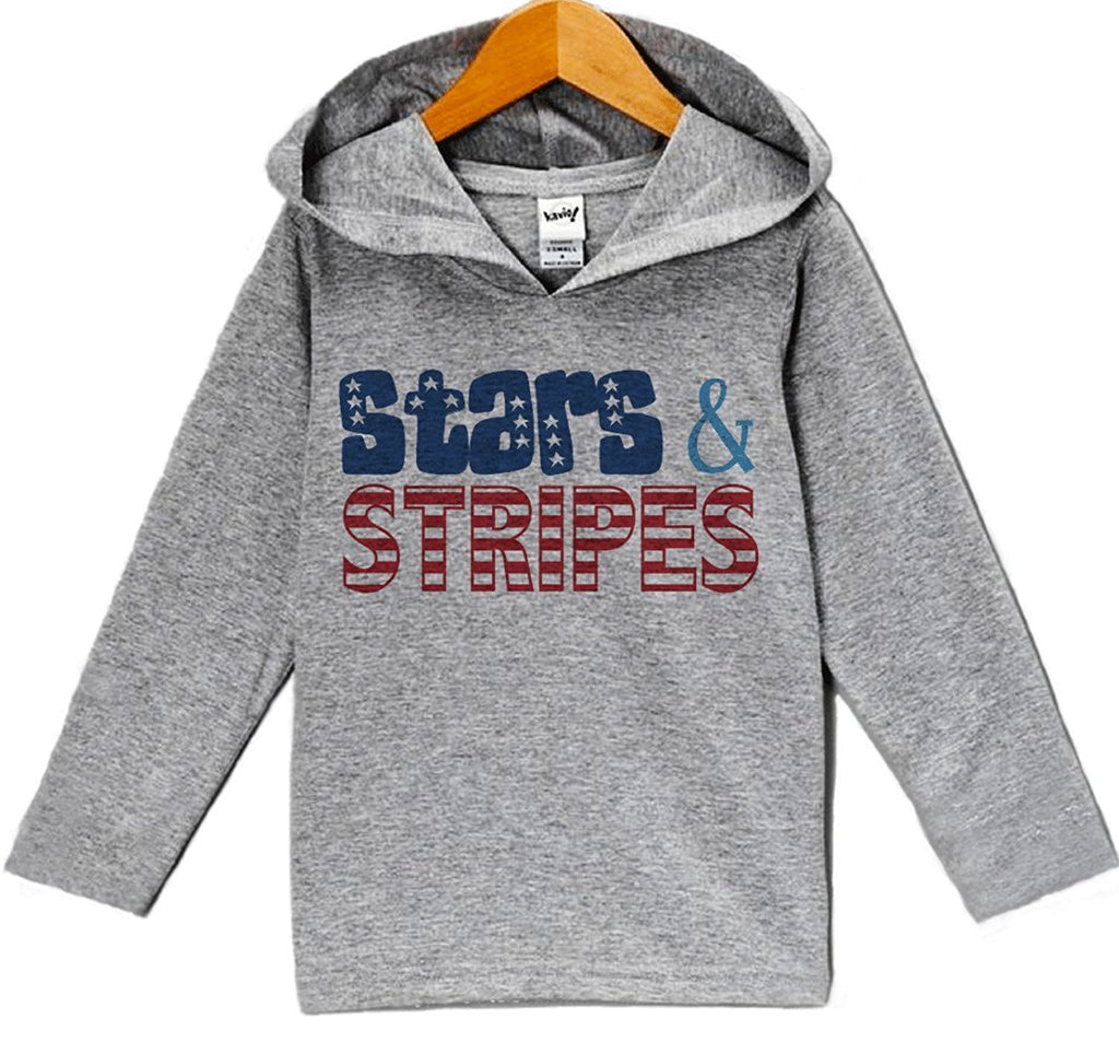 7 ate 9 Apparel Baby Boy's Stars and Stripes 4th of July Hoodie Pullover