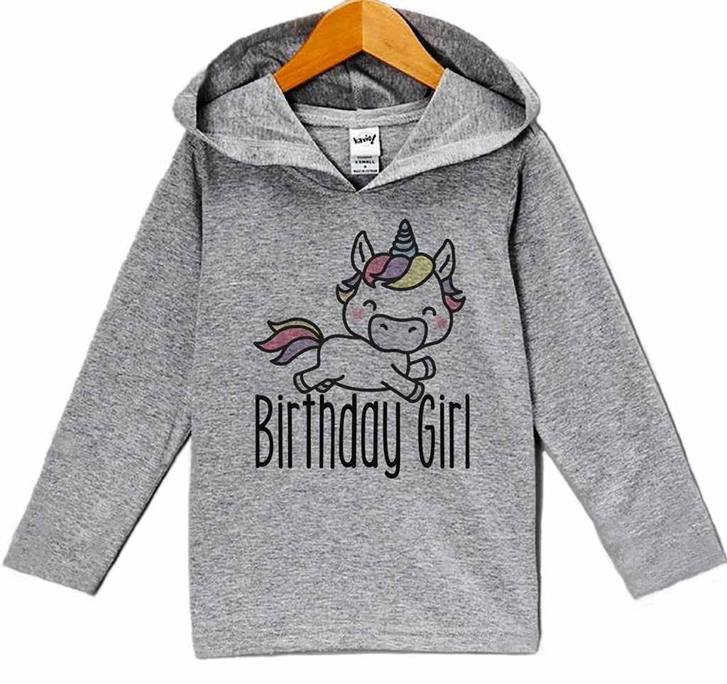 7 ate 9 Apparel Girl's Unicorn Birthday Hoodie